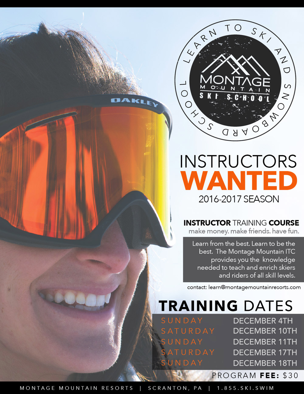 Now Hiring Instructors